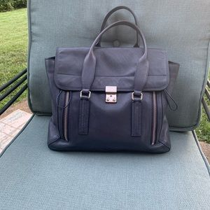 3.1 Philip Lim Pashli Satchel Large Deep Blue